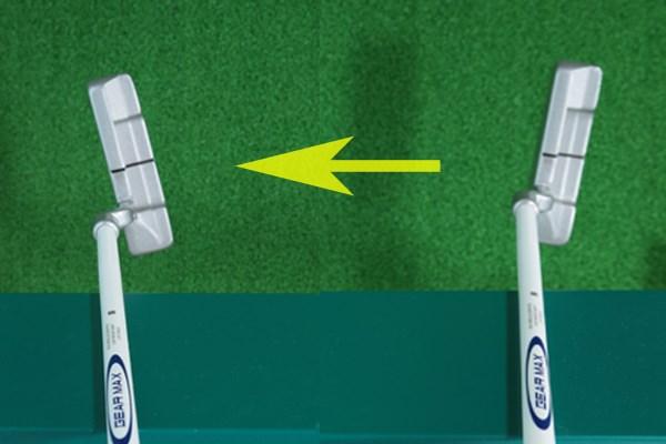 シャフトの位置をキープしたまま左右に動か