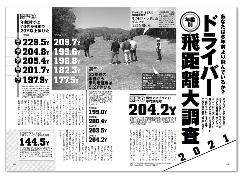 週刊ゴルフダイジェスト5/11・18合併号【ドライバー飛距離】大調査