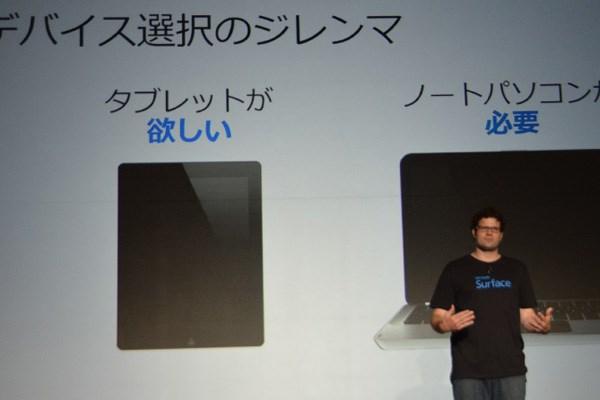 タブレットの携帯性、直感性とノートパソコ