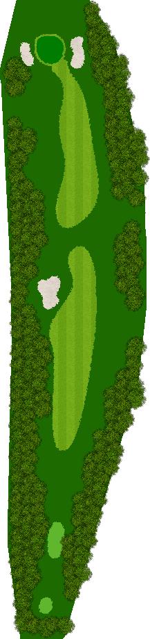 ルスツリゾートゴルフ72リバーウッドコース 2H Par4