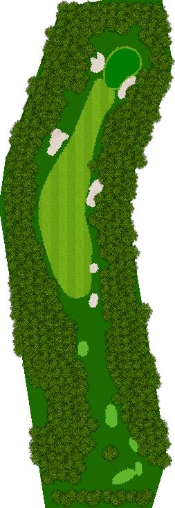 那須ハイランドGCコナミスポーツクラブ初心者用ゴルフコース 1H Par4
