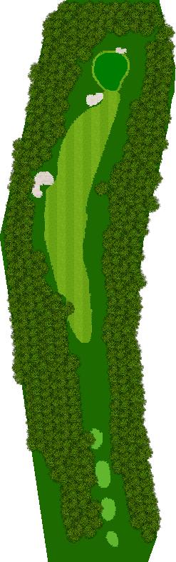 那須ハイランドGCコナミスポーツクラブ初心者用ゴルフコース 10H Par4