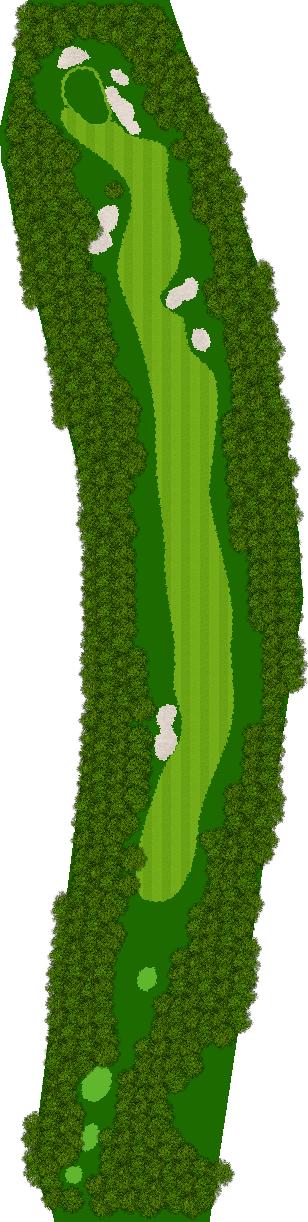 那須ハイランドGCコナミスポーツクラブ初心者用ゴルフコース 11H Par5