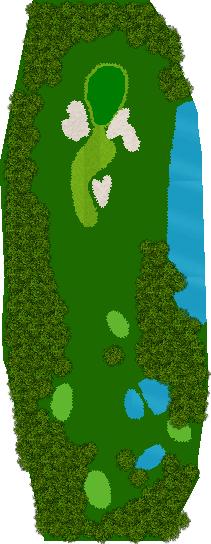 那須ハイランドGCコナミスポーツクラブ初心者用ゴルフコース 15H Par3
