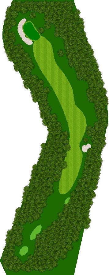那須ハイランドGCコナミスポーツクラブ初心者用ゴルフコース 16H Par4