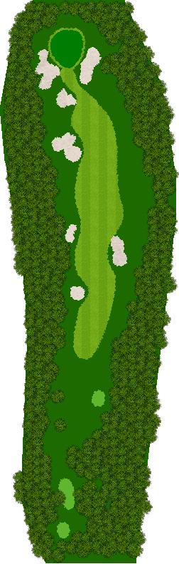 那須ハイランドGCコナミスポーツクラブ初心者用ゴルフコース 17H Par4