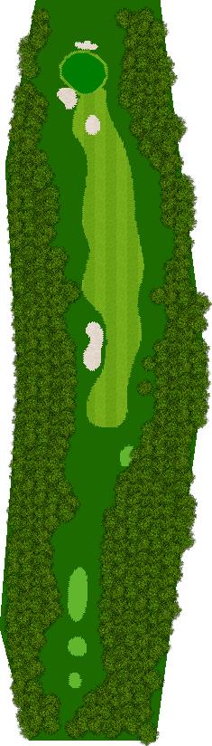 那須ハイランドGCコナミスポーツクラブ初心者用ゴルフコース 18H Par4