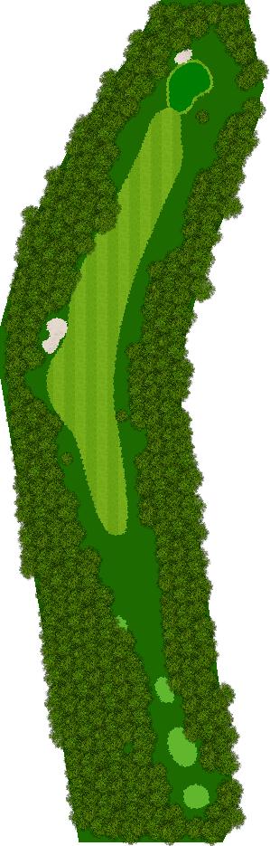 那須ハイランドGCコナミスポーツクラブ初心者用ゴルフコース 4H Par4