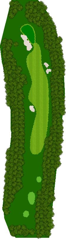 那須ハイランドGCコナミスポーツクラブ初心者用ゴルフコース 5H Par4