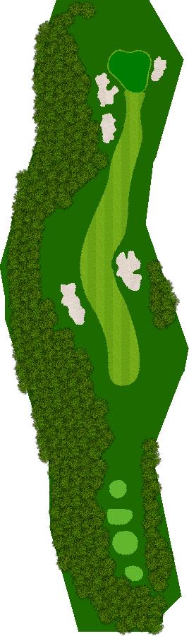 タカガワオーセントゴルフ倶楽部 17H Par4