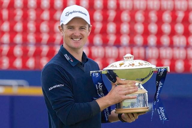 次週の「全英オープン」にむけて逃げ切り優勝を果たしたジャスティン・ローズ(Getty Images/Getty Images)