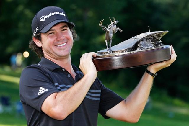 バーディ合戦を制しツアー初優勝を果たしたブライアン・ハーマン(Gregory Shamus/Getty Images)