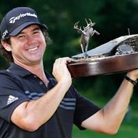 バーディ合戦を制しツアー初優勝を果たしたブライアン・ハーマン(Gregory Shamus/Getty Images) 2014年 ジョンディアクラシック 最終日 ブライアン・ハーマン