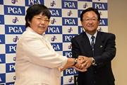 2014年 岡本綾子氏&倉本昌弘PGA会長