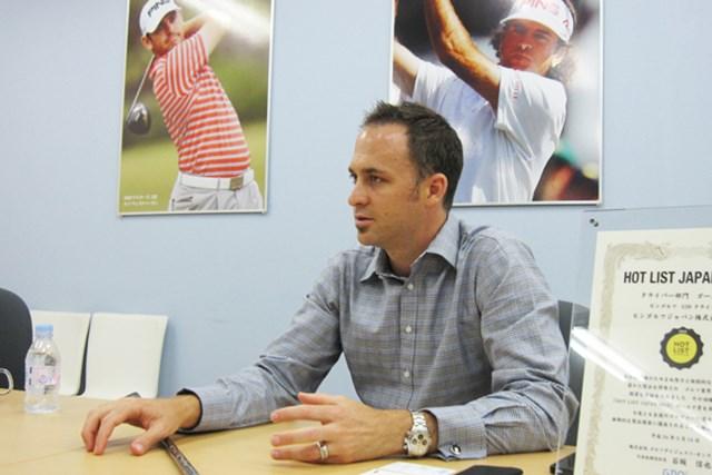 HOTLIST受賞クラブの開発背景に迫る ~ピンゴルフ編~ 2012年 Vol.3 ピンゴルフジャパンの代表取締役社長ジョン・K・ソルハイム。ピンの創業者であるカーステン・ソルハイムの孫にあたる