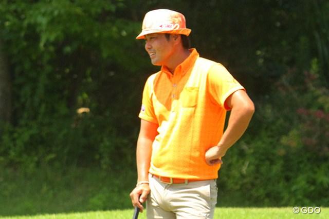 2014年 ダンロップ・スリクソン福島オープンゴルフトーナメント 事前 谷原秀人 福島オープン練習日の谷原。弾みをつけて渡米したい