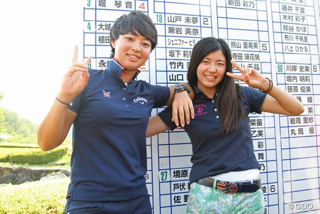 ともに一発合格を果たした堀琴音と柏原明日架。次週「meijiカップ」でプロデビュー戦を飾る