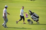 2014年 ダンロップ・スリクソン福島オープンゴルフトーナメント 初日 高橋竜彦 牛渡葉月