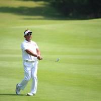 日本人には見えん。 2014年 ダンロップ・スリクソン福島オープンゴルフトーナメント 初日 篠崎紀夫