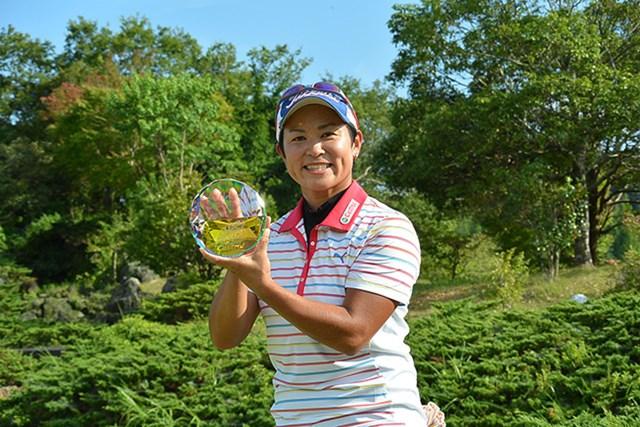 14年ぶりにステップ優勝を果たした大竹エイカ(LPGA提供)