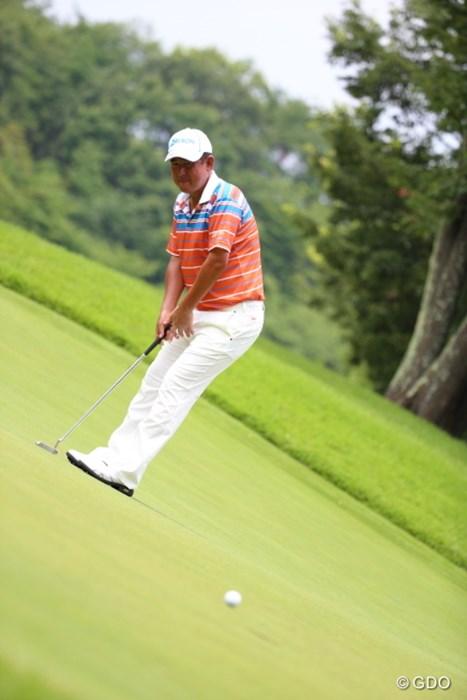 あぁぁ、届かず。 2014年 ダンロップ・スリクソン福島オープンゴルフトーナメント 2日目 高橋竜彦