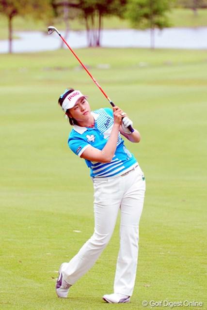 中京テレビ・ブリヂストンレディスオープン初日ナ・ダエ またまた強い韓国選手の登場です。ナ・ダエちゃんといいます!