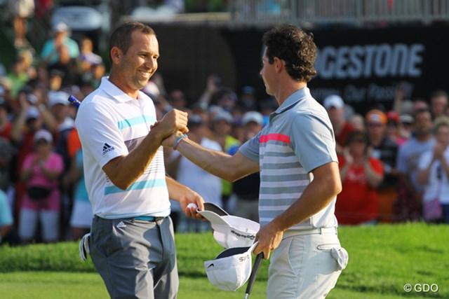2014年 ロリー・マキロイ セルヒオ・ガルシア 「全英」に続き優勝を争った2人が揃って世界ランキングを浮上させた