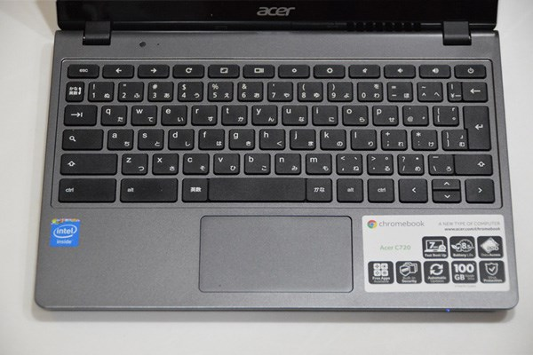 Chromebook C720は日本語キ
