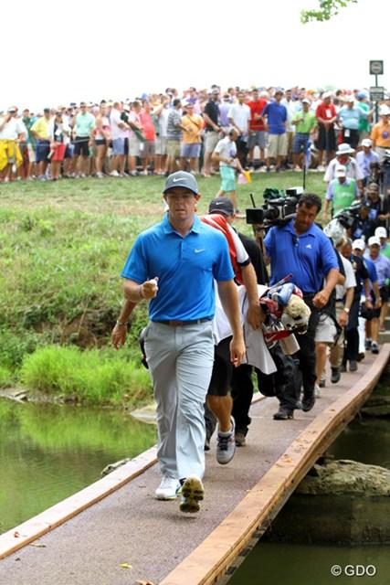 2014年 全米プロゴルフ選手権 3日目 ロリー・マキロイ 「リーダーボードに誰の名前があろうと関係ない」。自身のプレーに自信のマキロイ