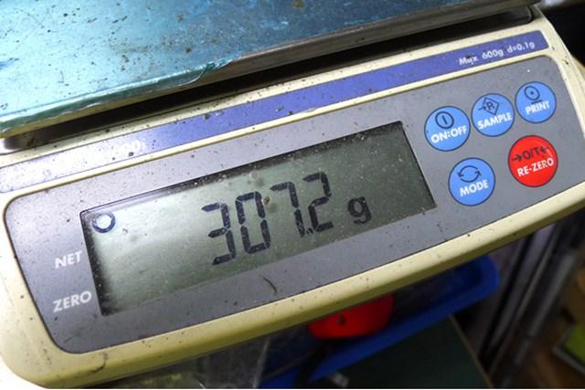 マーク試打 ブリヂストンゴルフ J715-B3 純正シャフトSのクラブ総重量は307.2グラム。アスリートゴルファーを対象にしたスペックである