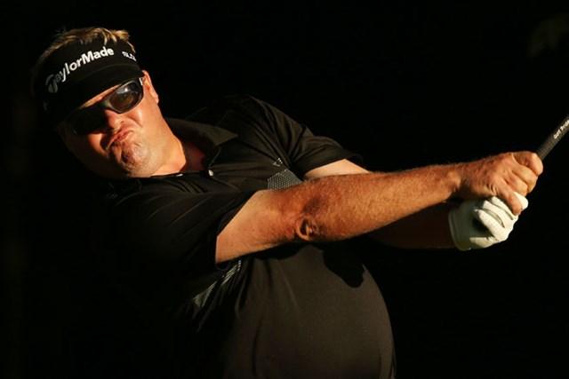 大会初日を「67」で回ったペターソンは、暫定首位のC.ビジェガスから4打差につけている(Darren Carroll/Getty Images)