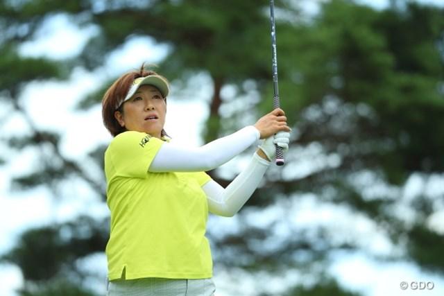 2014年 NEC軽井沢72ゴルフトーナメント 初日 福嶋晃子 過去4勝を誇る相性の良さを発揮!首位と2打差の4位につけた福嶋晃子