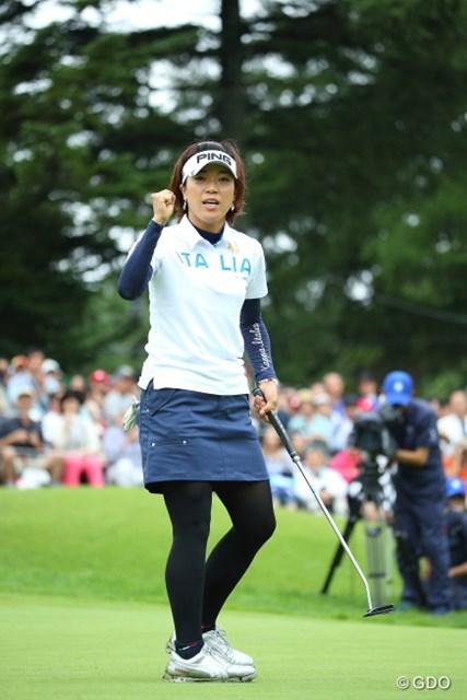 2014年 NEC軽井沢72ゴルフトーナメント 最終日 大山志保 プレーオフに進出を果たした大山志保だったが・・・