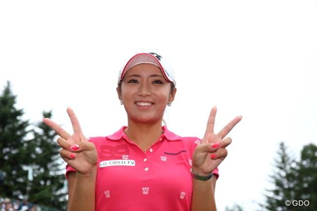 2014年 NEC軽井沢72ゴルフトーナメント 最終日 イ・ボミ 今季3勝目を挙げ、賞金ランキングトップに立ったイ・ボミ