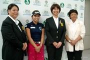 2014年 日本女子プロゴルフ選手権大会コニカミノルタ杯 事前 イ・ボミ 入江由香 小林浩美 岡本綾子