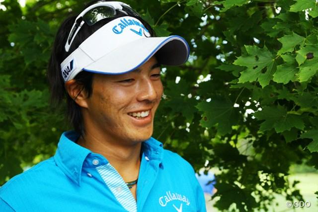 2014年 ドイツバンク選手権 事前 石川遼 体調が回復し、元気に前日練習を終えた石川。前日は見られなかった笑顔を振りまいた