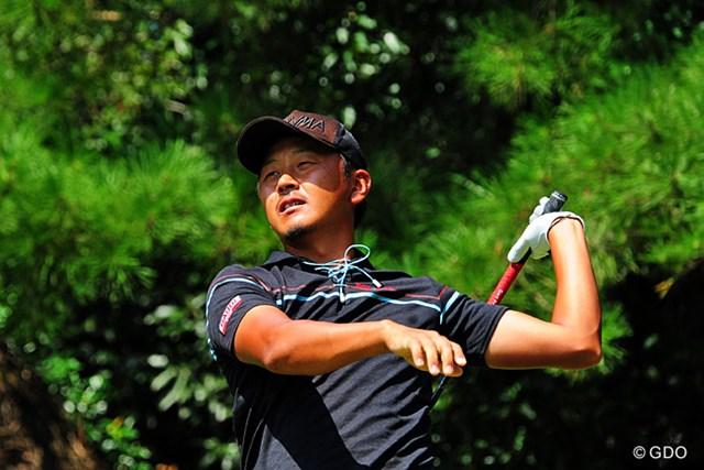 2014年 アールズエバーラスティングKBCオーガスタゴルフトーナメント  3日目 岩田寛 福祉大系若頭補佐。キャリアはユータ補佐より上ですが、実績で筆頭の座を譲っているという感じですワ。