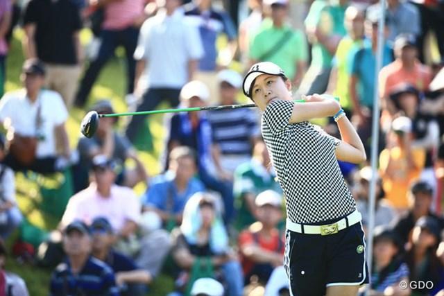 2014年 ゴルフ5レディスプロゴルフトーナメント 2日目 森田遥 スコアを2つ伸ばして5アンダーたいしたもんだ