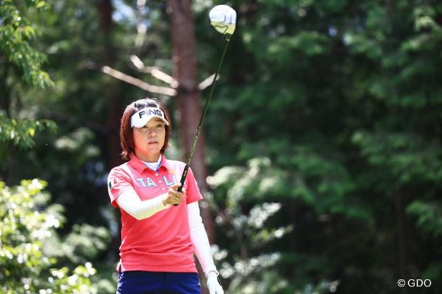 2014年 ゴルフ5レディスプロゴルフトーナメント 2日目 大山志保 2位と6打差で明日最終日