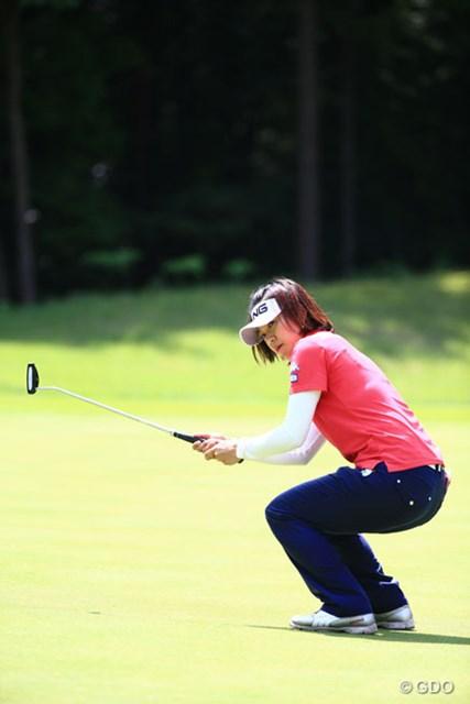 2014年 ゴルフ5レディスプロゴルフトーナメント 2日目 大山志保 9バーディノーボギーこの勢いは誰にも止められない