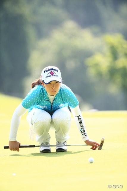 2014年 ゴルフ5レディスプロゴルフトーナメント 2日目 蛭田みな美 日本女子アマのタイトルを持っているアマ2人がともに5アンダー