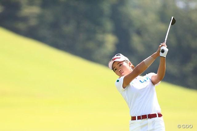 2014年 ゴルフ5レディスプロゴルフトーナメント 2日目 葭葉ルミ 通算7アンダーの6位グループからトップを追いかける