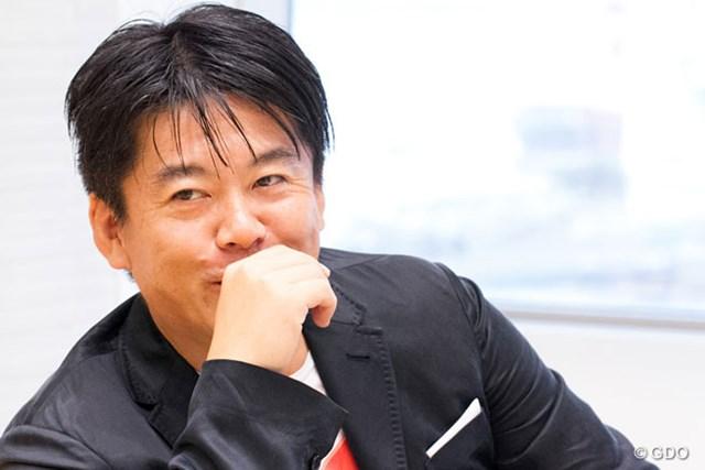 """ゴルフも大好きな""""ホリエモン""""こと堀江貴文氏"""