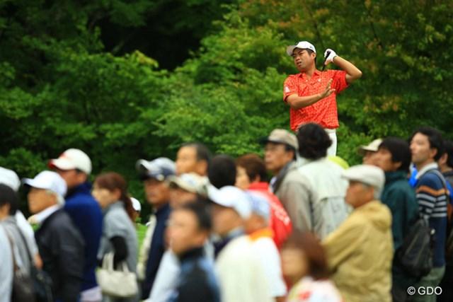 11番のティショットを左へ曲げて痛恨のトリプルボギー。今季初優勝を逃した池田勇太