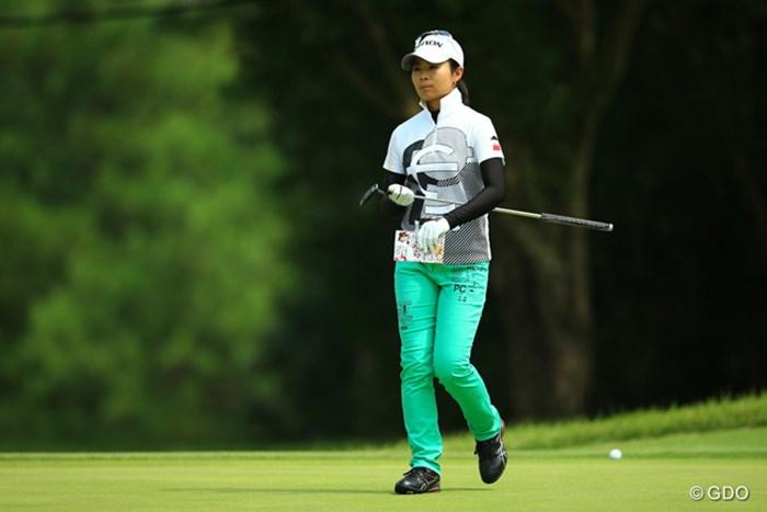 ティショットを外さないゴルフが大事だと、なっちゃんのスコアとゴルフが教えてくれますね。2アンダー2位タイ! 2014年 日本女子プロゴルフ選手権大会コニカミノルタ杯 初日 永井奈都