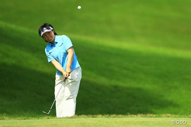 2014年 日本女子プロゴルフ選手権大会コニカミノルタ杯 2日目 不動裕理 国内メジャーで初の予選落ちを喫した不動裕理。今大会連続予選通過記録も17回で途切れた