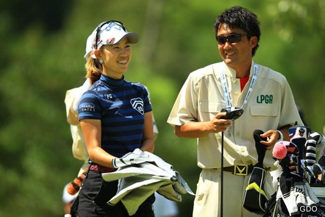 2014年 日本女子プロゴルフ選手権大会コニカミノルタ杯 3日目 上田桃子 戦闘モードに入るまではニュートラルに、リラックス。メジャー初Vを圏内に捉えた上田桃子