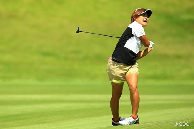 2014年 日本女子プロゴルフ選手権大会コニカミノルタ杯 3日目 成田美寿々 ショットの不調に陥り伸び悩んだが、好位置をキープして最終日に臨む成田美寿々