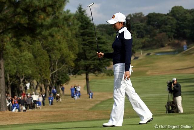 自身2度目の最終日最終組。「桃子先輩に負けたのと、思うゴルフを出来なかったことが悔しい」という原江里菜