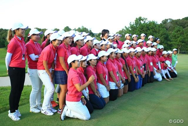 2014年 日本女子プロゴルフ選手権大会コニカミノルタ杯 4日目 ルーキーキャンプ 新人女子プロゴルファーの皆さんも4日間お疲れ様でした!